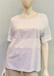 Fabiana Filippi Short Sleeve Cotton and Silk Top