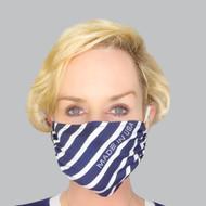 Grayse Nautical Face Mask Kit - Navy/White