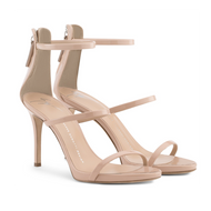 Giuseppe Zanotti Alien Blush Patent Leather Strappy Sandal