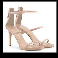 Giuseppe Zanotti Alien Blush Patent Leather Strappy Sandal