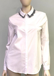 Fabiana Filippi Contrasting Trim Embellished Collar Shirt