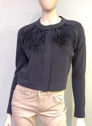 Fabiana Filippi Cropped Wool Cardigan