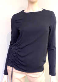 Fabiana Filippi Long Sleeve Asymmetric Ruched Top