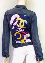 Designer Embellished Denim Jacket - Denim
