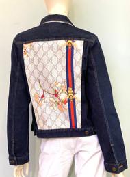 Designer Embellished Denim Jacket - Dark Rinse