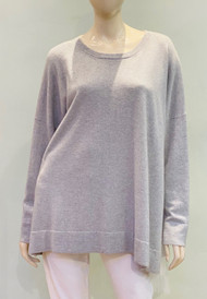 Fabiana Filippi Cashmere Sweater with Tulle Draping