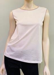Fabiana Filippi Sleeveless Cotton Top with Embellishments
