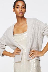 Dorothee Schumacher Luxury Cashmere Cardigan in Soft Greige