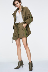 Dorothee Schumacher Adventurous Cargo Shorts in Pure Olive