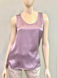 Max Mara Berger Silk Top in Lilac