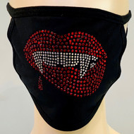 Rhinestone Embellished Mask - Fangs