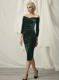 *TRUNK SHOW* Chiara Boni La Petite Robe Suzie Velvet Dress