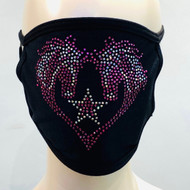 Rhinestone Embellished Mask - Mustangs
