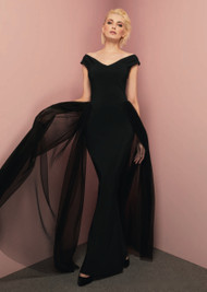 *TRUNK SHOW* Chiara Boni La Petite Robe Fei Fei Illusion Plissé Long Dress