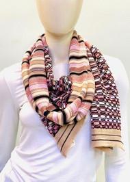 Missoni Multi Print Pink Knit Scarf