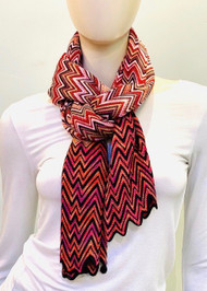 Missoni Multi Print Chevron Scarf