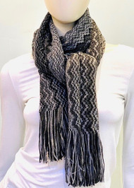 Missoni Grey Mix Chevron Knitted Stole