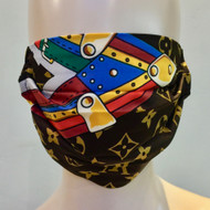 Face Mask - Brown/Gold/Multi
