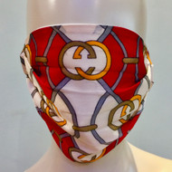 Face Mask - Red/Gold/Multi