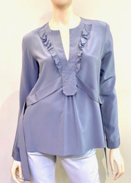 Dorothee Schumacher Silk Long Sleeve Blouse with Tie