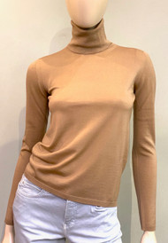 Max Mara Trine Top in Camel