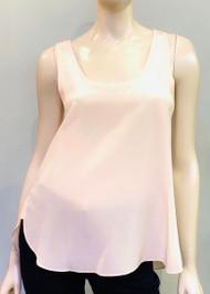 Dorothee Schumacher Sleeveless Silk Top in Peach