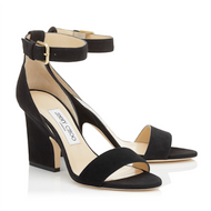 Jimmy Choo Edina Black Suede Wedge