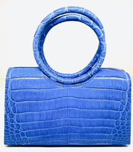 *TRUNK SHOW* Nancy Gonzalez Small Regina Circle Handle Clutch in Blue