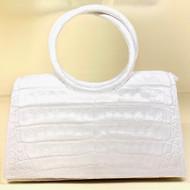 *TRUNK SHOW* Nancy Gonzalez Small Regina Circle Handle Clutch in White