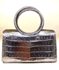 *TRUNK SHOW* Nancy Gonzalez Small Regina Circle Handle Clutch in Anthracite