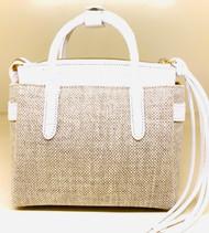 *TRUNK SHOW* Nancy Gonzalez Mini Cristie Bag in White/Natural