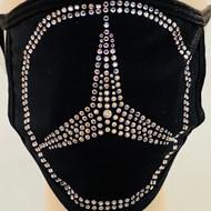 Rhinestone Embellished Mask - Mercedes Emblem