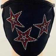 Rhinestone Embellished Mask - 3 Stars