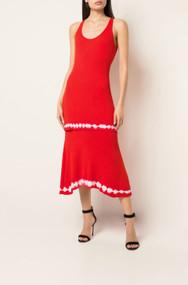 Altuzarra Shinobu Knit Dress in Blood Orange