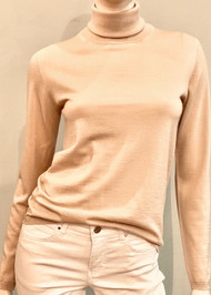 Max Mara Saluto Turtleneck in Beige