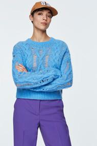 Dorothee Schumacher Fluffy Comfort Sweater in Soft Lavender