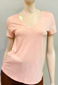 Lilla | P Short Sleeve V-neck Tee in Pale Blush