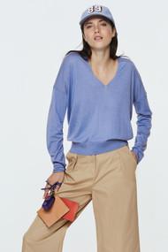 Dorothee Schumacher Drapy Fantasy V-Neck Sweater