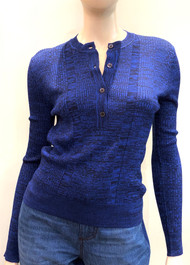 Marni Textured Knit Top in Deep Blue