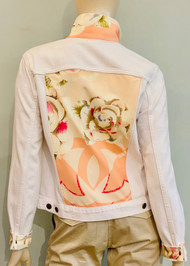 Designer Embellished Denim Jacket - Pink