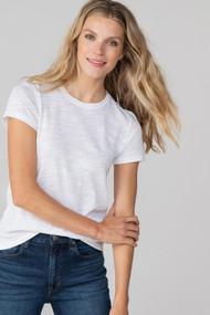 Lilla | P Back Seam Short Sleeve Tee in White