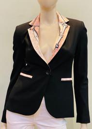 Designer Embellished Blazer - Pink/Cream