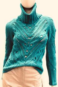 Altuzarra Ernestine Knit Turtleneck Sweater in Spearmint