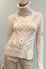Altuzarra Ernestine Knit Turtleneck Sweater in Ivory