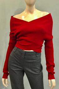 Altuzarra Virginia Off the Shoulder Sweater in Bloodstone
