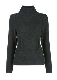 Altuzarra Loretta Ribbed Knit Sweater in Carbon Melange