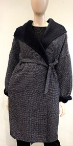 Max Mara Wool Hooded Coat in Ultramarine