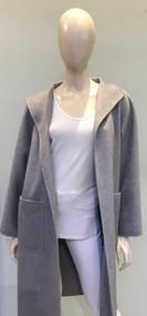 Max Mara Lilia Long Cashmere Wrap Coat in Light Grey