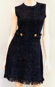 Oscar de la Renta Knit Tweed Dress in Black