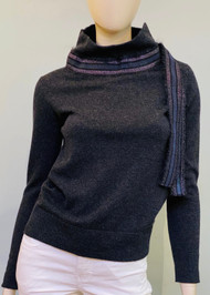 Fabiana Filippi High Neck Cashmere Sweater with Accent Detail